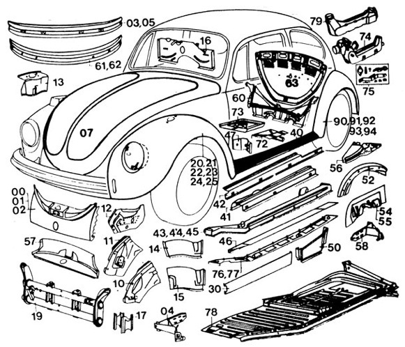 Volkswagen Replacement Parts : Vw beetle parts catalog engine auto