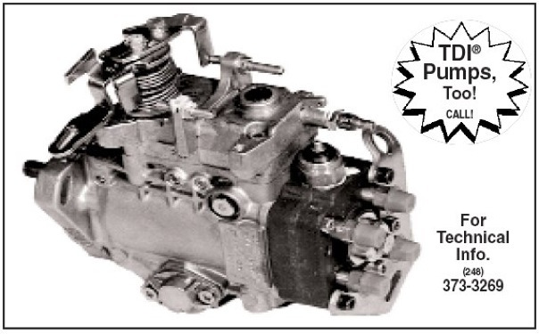 Parts Place Inc com: VW parts, Diesel Injection Pumps