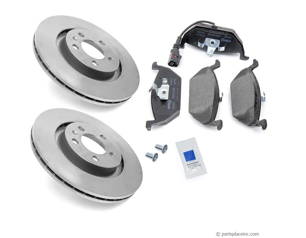 MK4 2.0L and TDI Front Brake Kit With Sensor