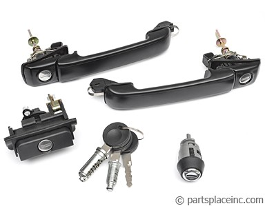 MK3 Jetta and Golf Complete Door Handle Set With Keys