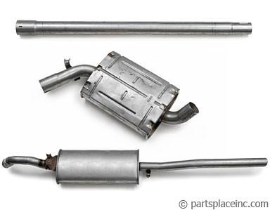 MK2 Jetta 1.8L 8V Big Bumper Exhaust System