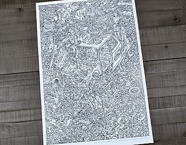 Peter Aschwanden Exploded Rabbit Original Poster