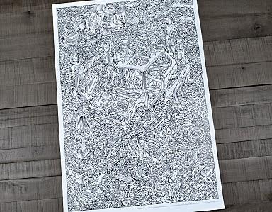 Peter Aschwanden Exploded Rabbit Original Poster