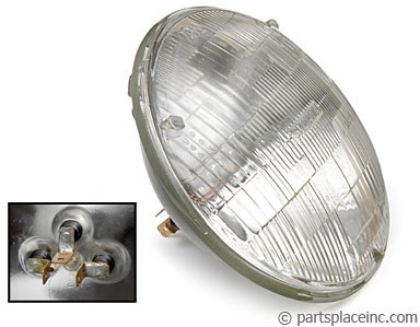 Beetle Bus & Rabbit Round Sealed Beam Headlight